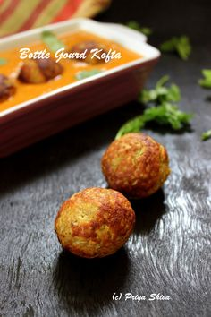 Lauki kofta curry - koftas made with bottle gourd and added in lovely gravy :)