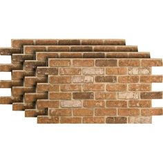 Get the look of an old reclaimed brick wall with these Urestone Lite panels. There is no need to install individual bricks, these panels interlock to create a seamless replication of the brick wall. Brick Siding, Faux Brick Walls, Brick Paneling, Brick Flooring, Faux Brick Wall Panels, Faux Brick Backsplash, Brick Veneer Wall, Stone Siding, Stone Panels