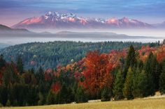autumn view on Tatry | Beskid Sadecki