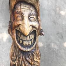 Image result for wood sculpture of buddha face