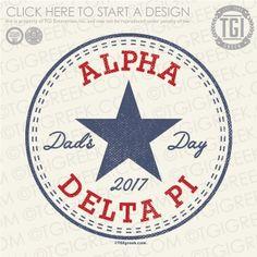 Alpha Delta Pi | ΑΔΠ | Dad's Day | Dad's Day Shirt | TGI Greek | Greek Apparel | Custom Apparel | Sorority Tee Shirts | Sorority T-shirts | Custom T-Shirts