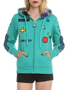 Adventure Time BMO Standby Girls Zip Hoodie   Hot Topic i need this