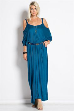 Women Criss Cross Cold Shoulder Semi Open Back Full Length Maxi Long Dress Size Type: Regular Women's (Runs True to Sizes) Special Style: Loose Fit, Semi Open B