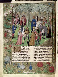 Dancing, Harley 4425, Guillaume de Lorris and Jean de Meun, Roman de la Rose Netherlands, S. (Bruges); c. 1490-c. 1500