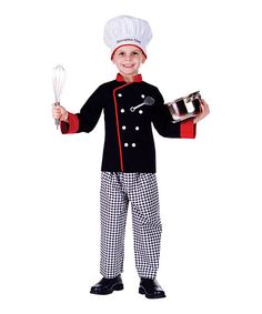 Black & Gray Executive Chef Dress-Up Set - Toddler & Boys