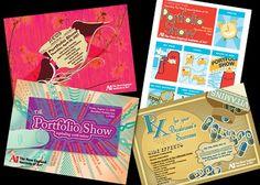 College Portfolio Show Postcard Invites on Behance Postcard Invitation, Postcard Art, Postcard Design, Invitation Design, Invitations, Design Inspiration, Design Ideas, College, Postcards