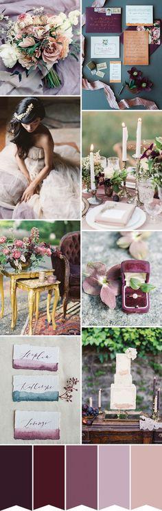 A Pretty Winter Palette - Shades of Purple Wedding Inspiration