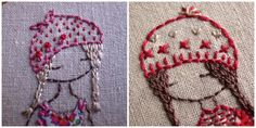 Friday tutorial - lavender girl hats and hair and faces