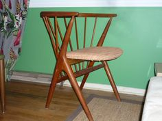 Mid Century teak chair made in Denmark, designed by Sibast Mobler. One of a pair. Danish Modern