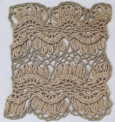 Tina's handicraft : 8 patterns for crochet stitch Broomstick Lace Crochet, Hairpin Lace Crochet, Form Crochet, Thread Crochet, Crochet Motif, Knit Crochet, Crochet Stitches Patterns, Crochet Designs, Crochet Decoration