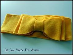 Six Sisters' Stuff: Big Bow Fleece No-Sew Ear Warmer Tutorial and Printable Template