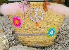 Ibiza Tasche* Palmtsche* Strandtasche*Boho bag* Hippie Tasche *peace Tasche groß