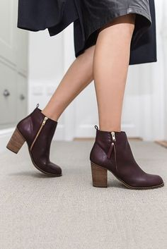 70220c2412ee Wine Mid Heel Ankle Boots. The search for a comfortable high boot is over  thanks. Kurt Geiger