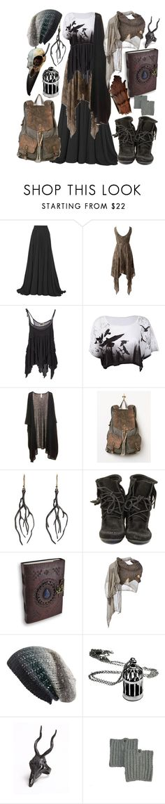 """wooden cage"" by smo-mo ❤ liked on Polyvore featuring Elie Saab, Diesel, Diana Brinks, Free People, Annette Ferdinandsen, Minnetonka, Cutuli Cult, Michael Stars and LAS Jewelry"
