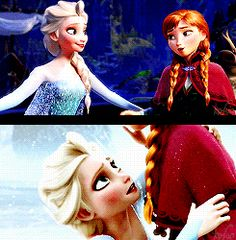 Elsa and Anna. Sisters before Misters!!!!!!!!!!!!!!!!