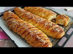 Kat Kat Katmer Poğaça Tarifi | Enfes Tarifler Hot Dog Buns, Hot Dogs, Croissant, Sausage, Bread, Food, Pains, Dressing Table, Kitchens