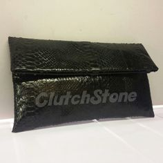 Mini frizi python skin black gloss size 15x28, suede cloth inside IDR : 350.000 exclude shipping