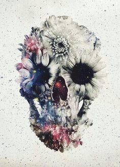 Dark Glitter Skull