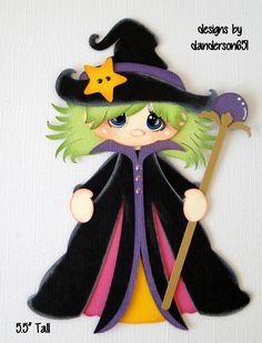Halloween Witch Paper Piecing PreMade 4 Border Scrapbook Album danderson651 in Crafts, Scrapbooking & Paper Crafts, Scrapbooking Pages (Pre-made) | eBay