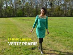 Ma robe Verte Prairie // Vanessa RdC // Green Power – Button me – Blog Couture
