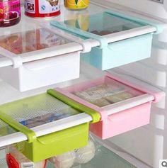 2.99AUD - Hot Slide Kitchen Fridge Freezer Space Saver Organizer Storage Rack Shelf Holder #ebay #Home & Garden