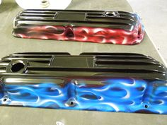 Bling your engine bay. Auto Engine Cover airbrushed by PAZ.