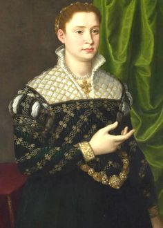 Portrait of a Lady, 1555-1560,Florentine, currently attributed to Bronzino or Allori (neither of which seems right)  http://www.nationalgallery.org.uk/paintings/italian-florentine-portrait-of-a-lady
