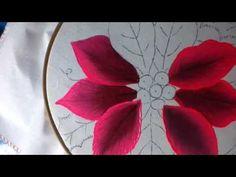 Pintura en tela Nochebuenas # 1 con cony - YouTube