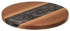 Amish Walnut Artistic Lazy Susan Epoxy Smoke An exotic look for Lazy Susans, this one is handcrafted with walnut wood and epoxy. Makes a great gift. #LazySusan #kitchenaccessories