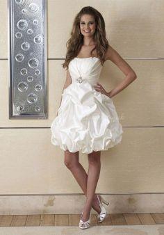 Short Strapless Wedding Dress - Ocodea.com