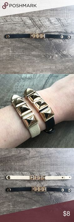 Trendy Rose Gold & Black Bracelet! This listing is for the black and rose gold bracelet but the cream is also available on a separate listing! SUPER cute. Normal wear but gently used. Goes with so many different outfits and looks super cute with other bangles! 💕 Jewelry Bracelets