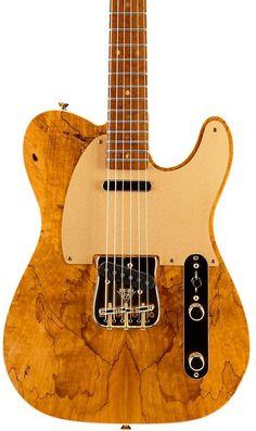 fender custom shop artisan alder telecaster roasted maple fingerboard with spalted maple top electric guitar natural