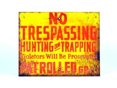 Rusted Industrial No Trespassing Vintage Warning by ZintageArchive