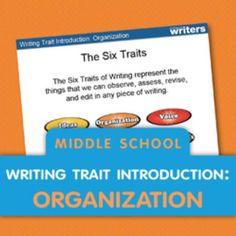 Elementary Writing Trait Introduction: Lesson Plan Ideas for teachers. Middle School Writing Prompts, 6 Traits Of Writing, 3rd Grade Writing, Writing Ideas, Writing Strategies, Creative Writing, Writing Curriculum, Teaching Writing, Teaching Ideas