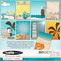 Beach Therapy Journaling Cards by Fayette Designs