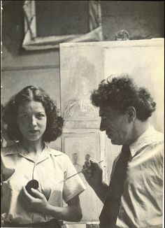 Alberto and Annette Giacometti. Photo by Alexander Liberman, 1951.