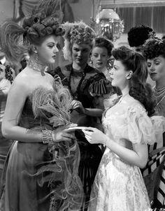 "Angela Lansbury and Judy Garland in ""The Harvey Girls"", 1946 HELEN ROSE"