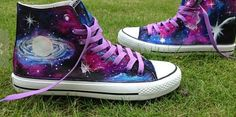 Jewellery For Lady - Galaxy Shoes, Galaxy Galaxy, Ballerinas, Big Backpacks, Painted Canvas Shoes, Ankle Boots, Creative Shoes, Shoe Display, Pumps