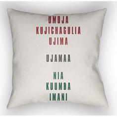 """Brayden Studio Marshburn Indoor/Outdoor Throw Pillow Size: 20"""" H x 20"""" W x 5"""" D, Color: White/Red/Black/Green"""