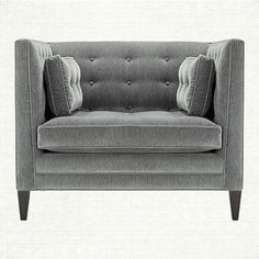 Clancy Upholstered Chair And A Half In Vangogh Fog   Arhaus Furniture