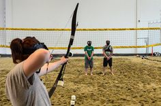 Two Dudes, One Camera: Hunger Games Archery Tag, Katniss Everdeen, News Games, Hunger Games, Indoor, Beach, The Hunger Games, Interior, The Beach
