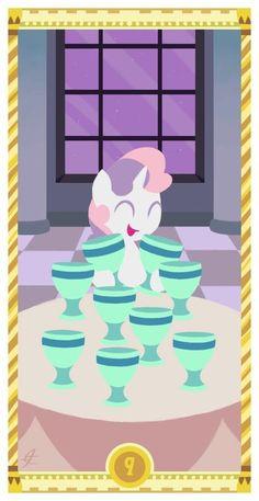 Nine Of Cups, Photo To Cartoon, Sweetie Belle, Tarot Cards, My Little Pony, Card Making, Fan Art, Deviantart, Cool Stuff