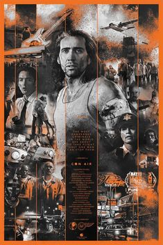 Con Air by Vlad Rodriguez - Home of the Alternative Movie Poster -AMP- Action Movie Poster, Best Movie Posters, Classic Movie Posters, Cinema Posters, Movie Poster Art, Awesome Posters, Movie Synopsis, Best Action Movies, Movie Posters