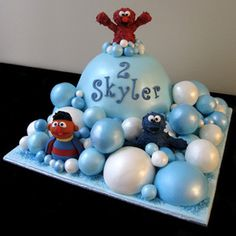 Elmo and friends in bubble land Cake