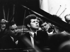 A youthful Van Cliburn, captured mid-concerto -- NPR: Remembering Van Cliburn, A Giant Among Pianists