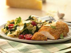 Cena Rápida: Pollo Parmesano con Tiras de Pasta - Que Rica Vida