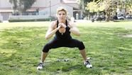 Jackie Warner's close to wide squats for the tush