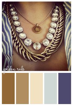 Color scheme inspiration -- I'm really not sure where to pin this because the necklace is gorgeous but I like the color pallet as well. Lol