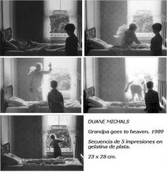 Duane Michals, Grandpa Goes to Heaven, 1989.