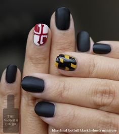 "As a Marylander I am obliged to love this. ""Maryland nails - perfect for football games but not for picking crabs."""